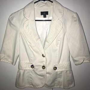Jackets & Coats - White / Cream Striped Blazer